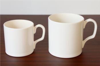 サイズは使いやすいMと、大容量のLの2種類。飽きのこないマグカップなので、デスクワークのお供として活躍してくれるでしょう。