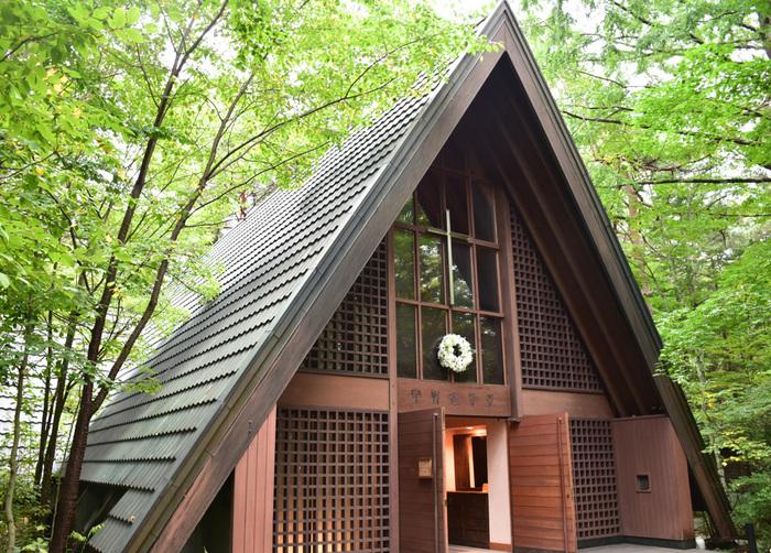 *1921年に建てられた「軽井沢高原教会」
