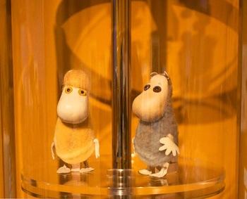 """""""まぼろしのムーミン人形""""といわれる、アトリエ・ファウニによるハンドメイドのフィギュアも展示していますよ。"""