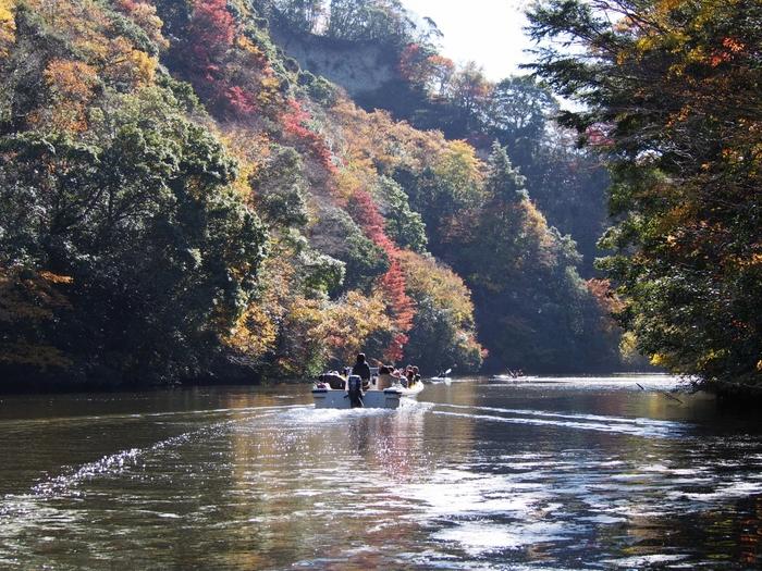 濃溝の滝から車で約10分の距離にある亀山湖。約10年かけて1980年に完成した千葉県最大の亀山ダムの人造湖で、四季折々の美しい光景を満喫しながら、サイクリング、ハイキング、ボート遊びなどのレジャーを楽しめます。