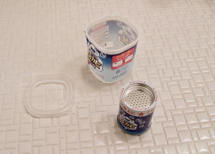 お風呂で開封して置いておくだけの、防カビくん煙剤。一度使えば、2ヶ月間効果が持続します。防カビ効果だけでなく汚れもつきにくくなって一石二鳥。持ち家に限らず、賃貸に住んでいる方にもおすすめです。