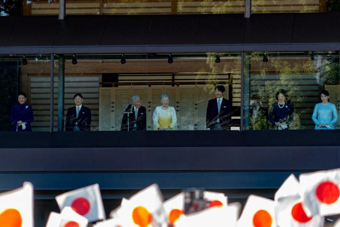 """「皇居」の""""豊かな自然に親しむ""""といっても、皇居内への立ち入りは、通常制限されているではないかと思う人も多くいらっしゃるかもしれません。  確かに""""皇居""""と耳すれば、御所のある「吹上御苑」や、一般参賀で知られる宮殿といった皇室関連施設が点在する「旧西の丸」の二箇所が思い浮かびます。【新年の「一般参賀」(2018年撮影)の皇居内宮殿「長和殿」】"""