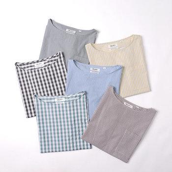 気温が暖かくなってくると、チェックやストライプなどの柄物アイテムを、一枚でさらりと着こなしたくなりますよね。