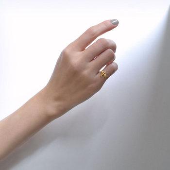 優しい愛と幸せで満たされるようにと、願いを込められて作られた青い鳥の指輪。お守りのように身に着けたいリングです。綺麗なゴールドも、お肌を美しく見せてくれそうです。