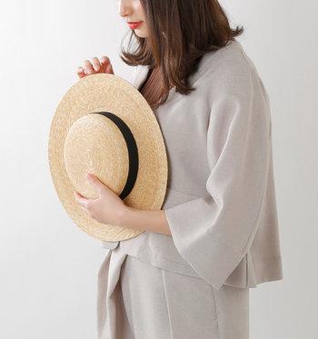 ひとつは持っておきたい、天然素材の麦わら帽子。神戸発の帽子ブランド「matureha.(マチュアーハ)」の、6mmブレイドストローハットです。