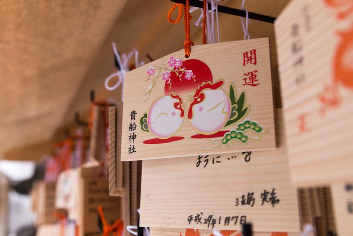 貴船神社は絵馬発祥の社としても知られています。