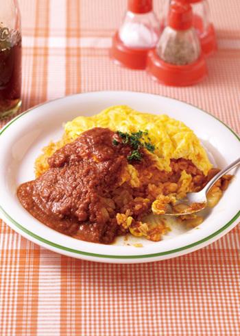 ケチャップライスにカレーにオムレツ。みんなの大好きが一皿に詰まった感激レシピです。