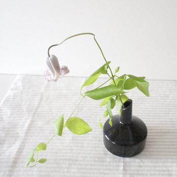 「Kristina Stark(クリスティーナ・スタルク)」のボタンコレクションのフラワーベースはシンプルな形と色使いで、お花をより美しく表現してくれます。インテリアにも馴染みやすいデザインで、活ける草花によって印象が変わるので、長く使い続けたくなるアイテムです。