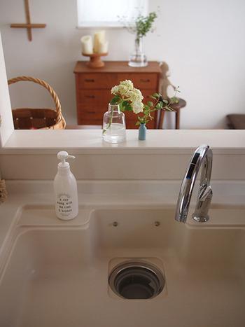 家の中で雑菌が一番増えやすいエリアは「キッチン」です。特に食べ物の汚れが付着しやすいシンクは、食器と同じくらいこまめにお手入れしたい場所。シンクに残った水滴を拭き取るお手入れがおすすめです。