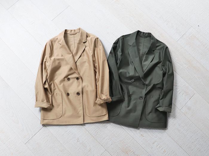 今年はニュアンスカラーのベージュや、アースカラーのオリーブも注目されています。デニムやワンピースにトレンドカラーのジャケットを羽織るだけで、ワンランク上のトラッド&ワークスタイルが完成しますよ♪
