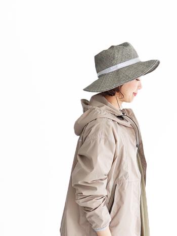 通気性に優れたペーパークロスハットは、日差しが強くなるこれからの季節におすすめのアイテムです。コンパクトに丸めて収納できるので、野外フェスやリゾートシーンにも◎。内側のテープでサイズ調整ができたり、あごひもは取り外し可能だったりと機能性もばっちりです。男女兼用で着用できるので、大切な方へのギフトにもおすすめです。