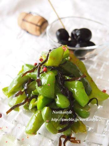 味付けはオリーブオイルと塩昆布のみ。失敗しらずの簡単レシピです。