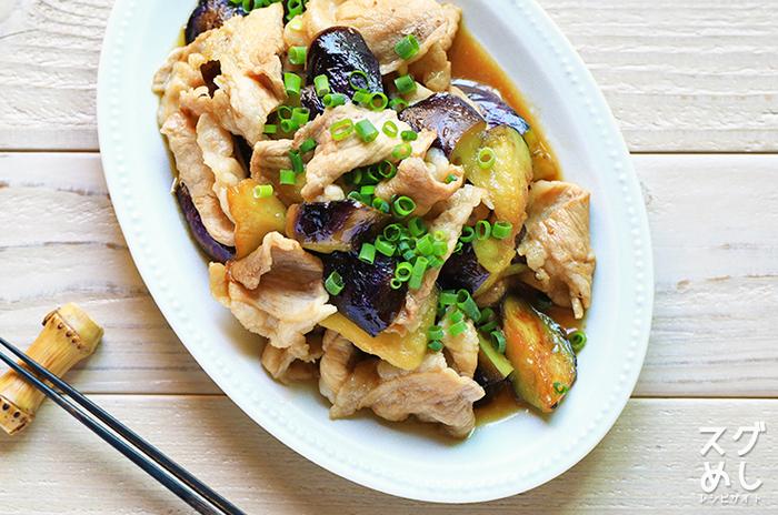おうちにある定番調味料で、パパっと作れる簡単レシピ。 赤身が多い豚もも肉を使っているので、カロリーを抑えられます。