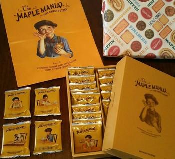 その他にもバターチョコをサンドした、香り豊かなメープルバタークッキーも人気です。パッケージデザインは、古き良き時代のアメリカをイメージ。《メープルの甘い香りとともに、子供時代の幸せな記憶を思い出してほしい》というコンセプトがあるそうです。