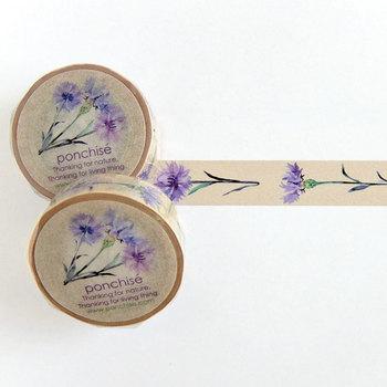 落ち着いた花柄のマスキングテープは、貼るだけでグッとおしゃれになるアイテムです。