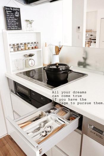 立てたり、掛けたり。料理がスムーズにすすむ「キッチンツールの収納術」