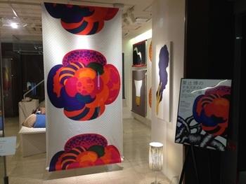 2012年に開催された「粟辻博のテキスタイルデザイン展」(写真:ブログ「テキスタイル獣道」より)