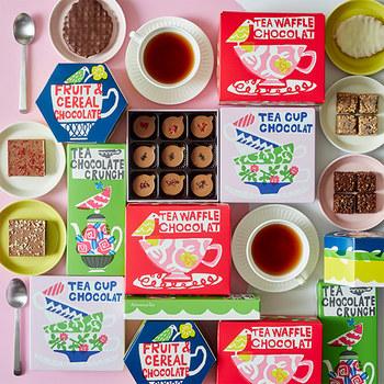 今年、ライフスタイルショップ「Afternoon Tea」から発売された限定チョコレートのパッケージを担当(写真:Afternoon Tea)