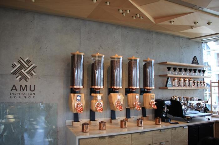 セミナー/イベントスペースとして稼働予定。同じフロアには豆を袋詰めするコーヒーパックラインも併設されています。