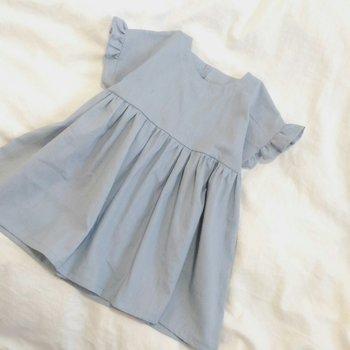 yanさんのブログには子ども服の作り方も紹介されています。フリル袖がかわいらしいワンピースは、かわいいものが好きな女の子にぴったりです。