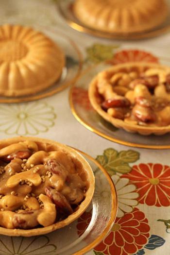 クッキー生地を最中に変えたフロランタンは、食感もひと味違う!甘い生姜風味のヌガーは、日本人でも親しみやすい味わいに仕上がりますよ。