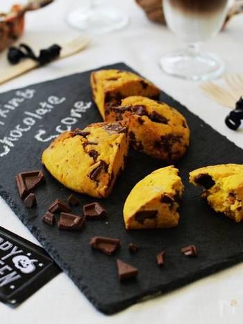 たった4つの材料で作ることができるスコーン。かぼちゃのスイーツは食材自体のやさしい甘さがあるのでヘルシーで嬉しい!
