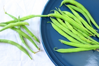 いんげんにはビタミンB1、B2、K、Cなどのビタミン類が豊富です。とくにカリウムが多く含まれます。旬の季節にはたっぷりいただきたい緑黄色野菜のひとつです。