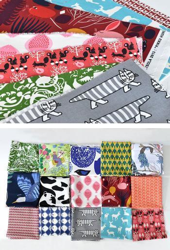 cortina(コルティーナ)で購入できる「北欧はぎれ福袋セット」は、暖色系、モノクロ、動物柄、小柄…など豊富な13種類の中から、自分好みのものをセレクトすることが出来ます。 1枚につき、約縦34×横26cm以上のはぎれが入っていて、組み合わせ次第でオリジナルティあふれるハンドメイド作品を作ることが出来ますよ♪  どのブランドのどんなテイストのはぎれが入っているかは、届いてからのお楽しみなので、ドキドキ&わくわく感を味わえるのも魅力のひとつです。