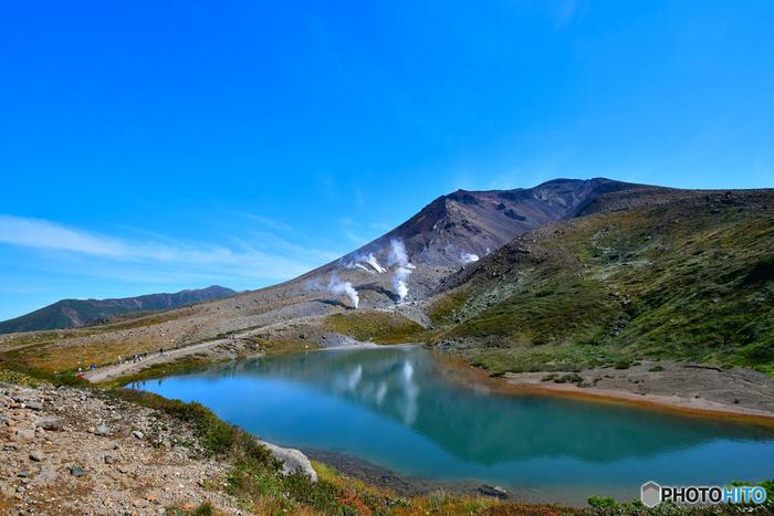 旭山動物園へ行った後に温泉を楽しんでみませんか。少し足を伸ばすと、大雪山の主峰、旭岳の麓に温泉地でゆったりくつろぐ事ができますよ。大雪山の東側は、さきにご紹介した層雲峡温泉があり賑やかな印象ですが、旭岳側はのんびりとした雰囲気。近年、少しずつ人気が高まっているので、穏やかな時間を楽しみたい人は、ぜひ今のうちに。  ♨ 泉質:硫酸塩泉、ほんのり緑がかった透明 ♨ さらさらした肌触りでクセがない