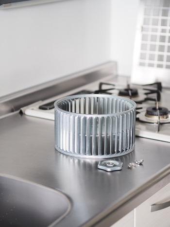 キッチンでも「酸素系漂白剤」は大活躍!油まみれの換気扇、掃除が大変なのをいいことに、何か月も放置してしまっている…。そんな人も多いのではないでしょうか。 こちらのブロガーさんは、換気扇の掃除に「酸素系漂白剤」を使っているそうです。まずは、ネジを外して換気扇を取り外します。