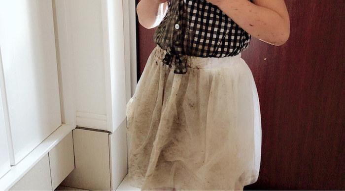 ちなみに、こんなひどい泥汚れの衣類も…