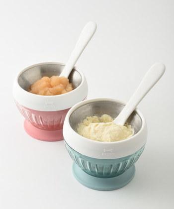 こちらも同じく「ブルーノ」の一人分用のシャーベットが作れるアイスクリームメーカーです。ココットのようなデザインで、そのまま器になるのもうれしいですね。ちょっとだけ食べたいときに便利♪