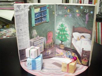 手作りのアドベントカレンダーは、ボックスの中にお子さんの好きなおもちゃやお菓子だけを入れることができるのが嬉しいところ。