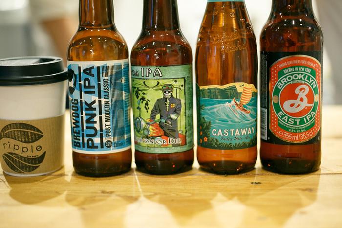 さらにこちらのお店には、クラフトビールも置いています。ヴィーガンバーガーとともに美味しいビールで、ジャンキーなひと時を♪