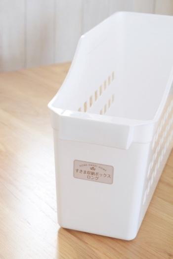 ダイソーのすき間収納ボックスロングは、シンク下の引き出し収納にもおすすめのアイテム。