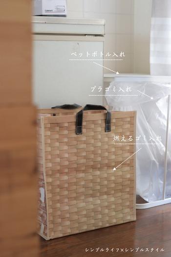 作業をする度に近くにごみ箱を置きたい…そんな持ち運びスタイルを希望する方におすすめなのが、トートバック型のダストボックス「ROO Garbage」です。