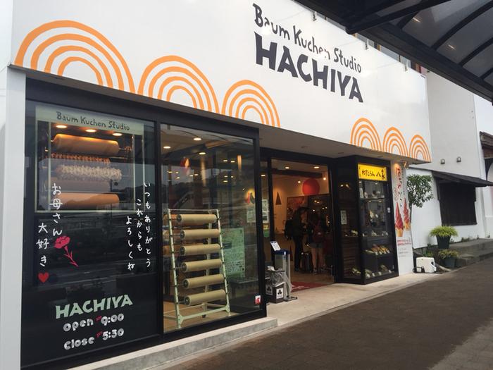 鬼怒川温泉駅から徒歩1分ほど、ガラス張りの店内で、職人たちの手作りのバウムクーヘン専門店。2015年には日光ブランドに認定され、今では幅広い世代から大人気です。日光産の卵や北関東産の小麦粉などこだわった素材を使用しています。