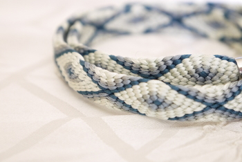 奈良時代に経巻や仏具などにつけられた「伊賀組紐」をはじめ、平安時代の貴族の装飾品などにも使われた「京組紐」、江戸時代には武具装身具として愛用された「東京組紐」など、時代に合わせてさまざまな組紐が生まれました。