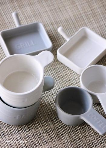 セリアの北欧風ミニ食器は、小さいながらも食卓を華やかにしてくれます。副菜を盛り付けてカフェ風ワンプレートに、ソースやドレッシングを入れてサラダに添えてもいいですね。