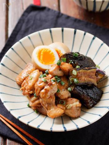 鶏から出る旨味をナスがギュッと吸い込んだ万能レシピ。お弁当にもオススメですよ。