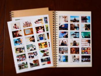 ちなみに、【写真プリント】は、1枚の台紙につき1枚の画像という、1枚ごとの写真プリントしかできないわけではありません。  L判サイズの台紙にたくさんの画像をレイアウトしたり、小さな画像が集まったインデックスプリントにしたりと、最近は色んなアレンジができるサービスが充実していますよ*