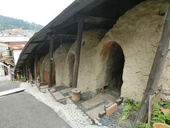 奧田忠左衛門窯・信楽陶芸村には、登り窯をリノベーションしたカフェ「登り窯カフェ」があります。