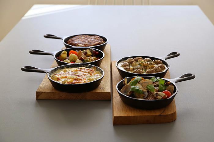 小さめサイズなら、煮たり焼いたりなど色々なお料理を並べて作れちゃいます。