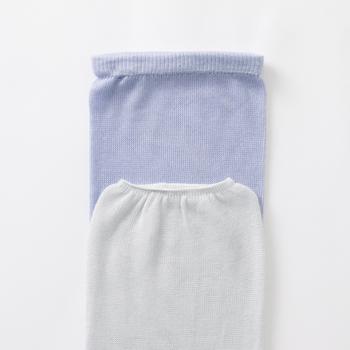 暑い日差しから肌を守ってくれるだけでなく、夏のアームカバーはつけている方が涼しく感じるそう。また、上下で締め付け具合が違う両用タイプなので、好みに合わせて使用できるのも◎。