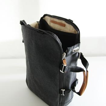 スイス生まれのバッグブランド「QWSTION(クエスション)」。シーンによって3通りに形を変えられるDaypackは、使い勝手をとことん考えぬいたデザインが際立ちます。