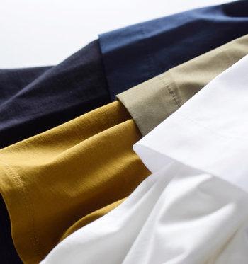 色はホワイト、ブロンズ、ネイビーの3種類。それぞれ雰囲気が異なるため、なりたいイメージに合わせたセレクトを。