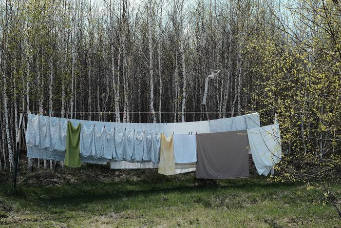 Tシャツを干す時は、風通しが良いところでの陰干しがおすすめです。直射日光は、色あせの原因になるので長時間の紫外線には注意してください。気温が低い日は陰干しでは、Tシャツが乾きにくくなるため、裏返しにして干すと紫外線ダメージを防げます。