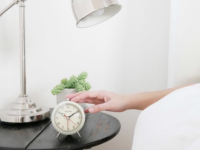 インテリアグリーンも目を楽しませてくれるアイテム。グリーンは、リラックス感をもたらす色とも言われています。眠りに集中できるよう、圧迫感のない小さなグリーンを少なめに取り入れるのがおすすめ。
