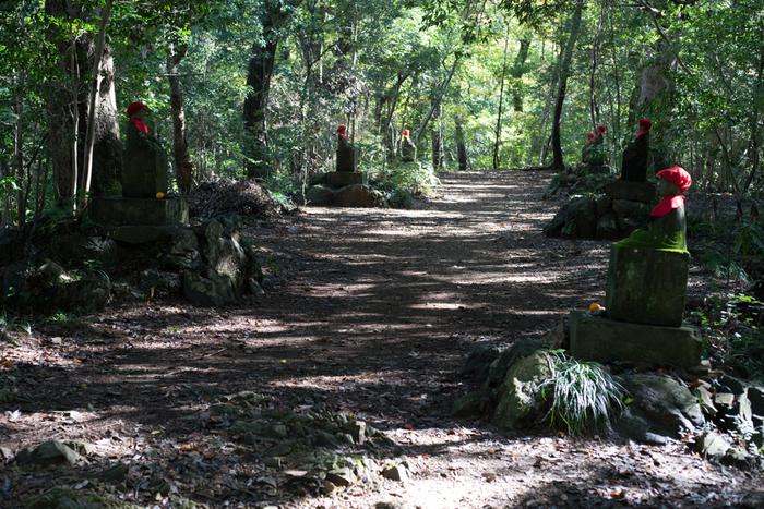 ルートはいくつもありますが、初めての方は「一号路 表参道コース」がおすすめです。リフト・ケーブルカーを下りたら、山頂までは約1時間のハイキング。すべて歩きの場合でも、上り・下りともに1時間半ほどで、舗装された道が多いので歩きやすいですよ。