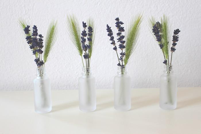 ラベンダーの香りには鎮静、抗菌、防腐などの作用が期待できます。ストレスやイライラした気分も和らぎ、リラックス♪花自体も可憐で種類も豊富。紫の小さな花の集合体は見ていても癒やされます。